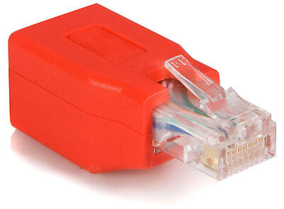 Cat 6 RJ45 Crossover Network Ethernet Cable Red Adapter Male to Female Crossed
