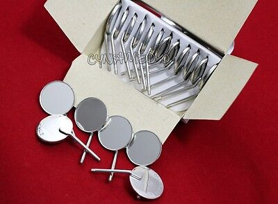 New Premium 12 X Dental Mouth Mirror Heads Cone Socket 5 Plain A Quality