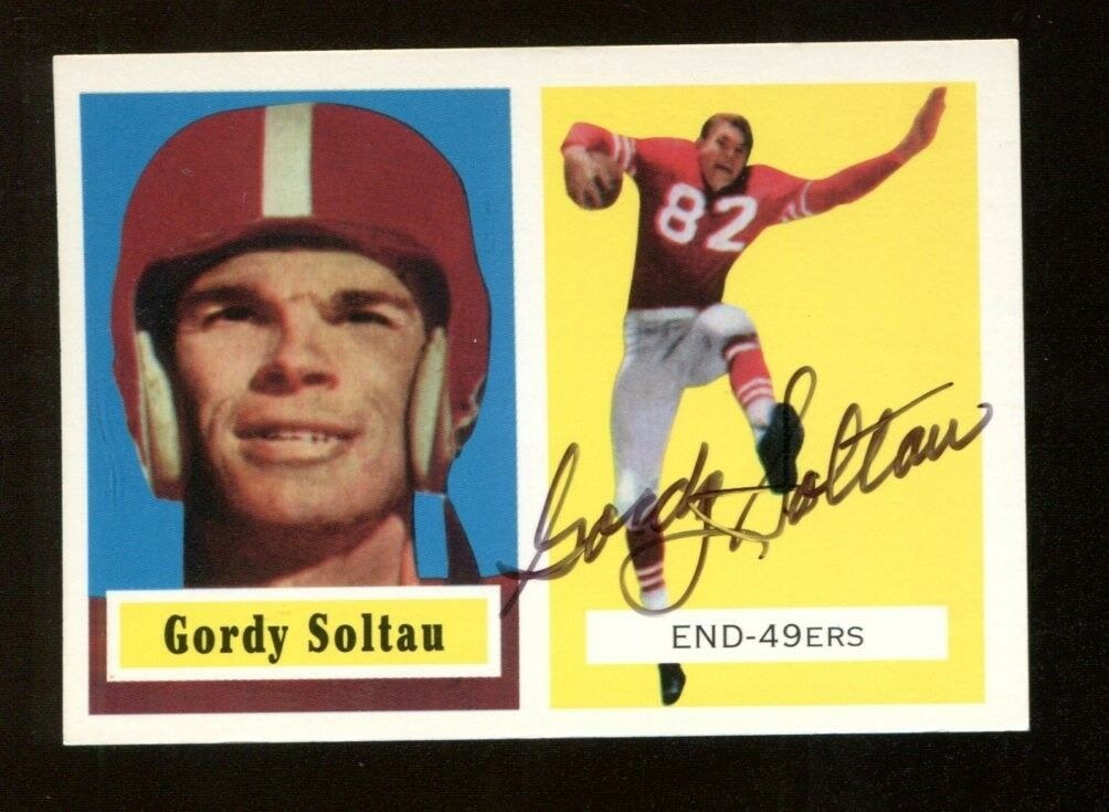 33e16c3d2 Gordy Soltau Signed 1994 Topps 1957 Archives Football Card Autographed 49ers