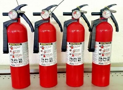 2.5lb Fire Extinguisher Abc Dry Chemical - Kidde Disposable 1a10bc Four Pack