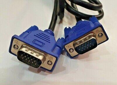 Cable VGA 15 pines Macho - 15 pines Macho 1.3Mts Azul