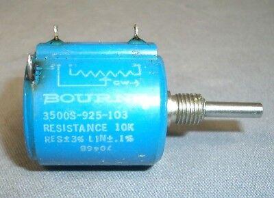 Bourns Tektronix 10k Multi-turn Pot 18 Shaft 0.1 Lin 3 Tol 311-1058-00