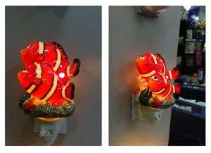 BEAUTIFUL NEMO FISH PORCELAIN NIGHT LIGHT BRAND NEW IN BOX