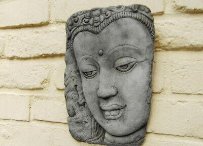 Buda Cabeza Como Mural Hormigón Negro Patinado 2684