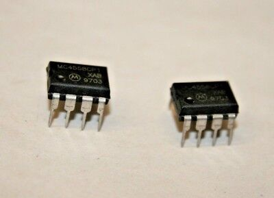 2 Pack Mc4558cp1 Dual Operational Amplifier 101-600