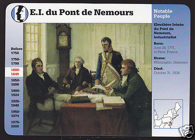 E I  Du Pont De Nemours Industrialist Entrepreneur Grolier Story Of America Card