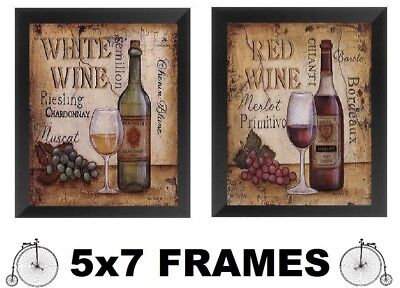 Merlot White Wine - 💗 5x7 Wine Bottle Pictures Merlot Red White Paris Bottles Glasses Wall Hanging