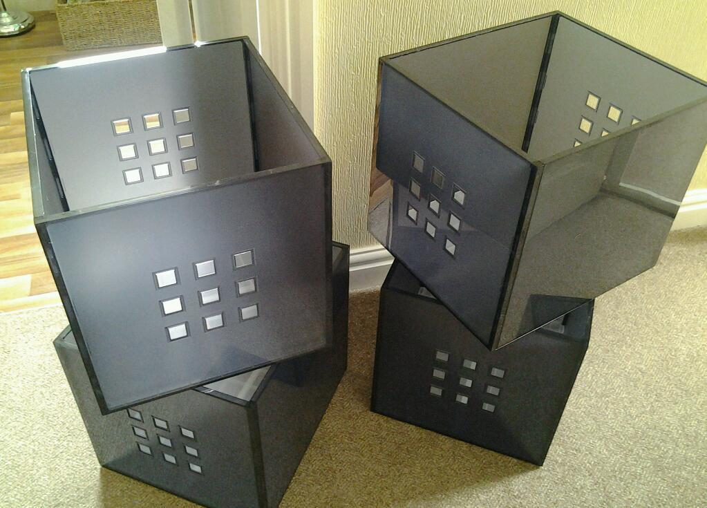 4 MODERN STORAGE BOXES W 33 cm x D 37cm x H & BRAND NEW! 4 MODERN STORAGE BOXES W 33 cm x D 37cm x H 33cm Didnu0027t ...