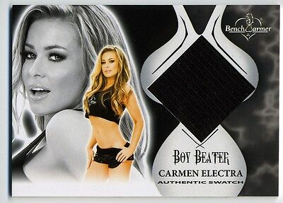 CARMEN ELECTRA ~ 2012 Benchwarmer Vault Authentic Boy Beater SWATCH Card on Rummage