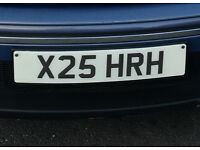 Private Registration Plate - X25 HRH