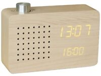 Gingko Maple Radio Click Clock - GK16Y18 - RRP: £79.99