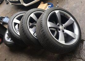 "Genuine Audi A5/S5 19"" Rotor/Rotory/Rota Alloy Wheels + Bridgestone Potenza S001 Tyres"