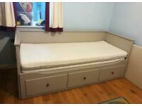 FREE DELIVERY IKEA HEMNES GREY PULL OUT DAY BED WITH 2 MATTRESSES GREAT CONDITION