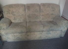 Sofa and two armchairs (1 is a recliner)