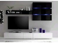 Wall unit Tokio / Free LED !!! / TV stand / Living room furniture set / High gloss