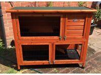 Double decker rabbit/guinea pig hutch