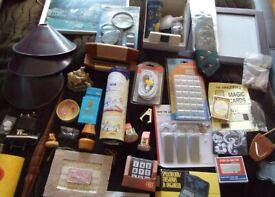 SALE Large box of assorted bric-a-brac – ornaments, games, etc – to be sold as a job lot (#01)