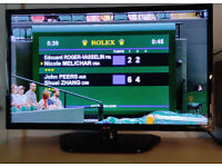 """LG 32"""" HD Ready LCD TV with built in free view and USB playback"""