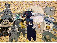 0-3 month baby boys bundle