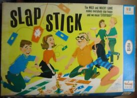 TOYS./GAMES SLAP STICK GAME-SLAP STICK family game.Vintage large colourful Box.£ 10.Collectable