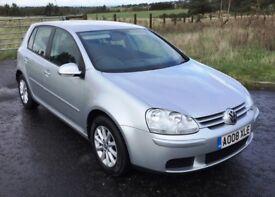 2008 Volkswagen Golf 1.9 Tdi Match, metallic silver fsh, mot June 2019 five door, Lovely car overall