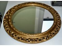 Large ornate circular mirror