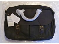 Barbour Waxed leather briefcase new with tags on