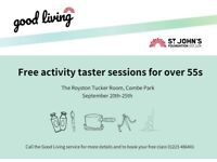 Free Taster Sessions for the over 55s