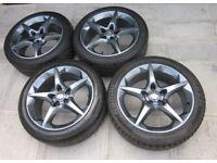 """Genuine GM 18"""" Penta Wheels & Centers FRESHLY REFURBED NO CRACKS OR WELDS"""