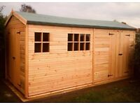 15X8FT NEW HEAVY DUTY T&G APEX STORAGE SHED GARDEN TIMBER ERECTED ASSEMBLED