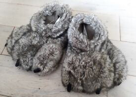 Furry child's slippers, M&S, size 13