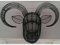 TOPIARY FRAME - WALL ART - LONGHORN SHEEP