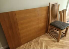 Oak Table (180cm) & 6 Chairs FREE DELIVERY 8857
