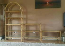 Bamboo & glass units(3 individual units)