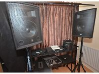 ex disco equipment 240 watt sound 4 mics 2 lights 2 speaker stands all leads inc.