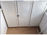 2 x IKEA Billy White Bookcase with Oxberg doors locks secret Cabinet New and other condition