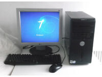 Dell (i3, PC, Monitor, K/M) Gaming PC, 5 Games, Office 2013, HDMI, 4GB Ram) Desktop PC, Computer, HD
