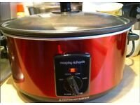 Morphy Richards Sear and Stew Slow Cooker, Red