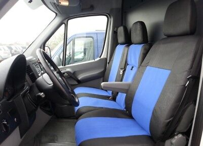 2+1 Sitzbezüge Schonbezüge Polyester Blau/Schwarz Neu für Mercedes Benz Sprinter