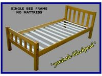 Bed Frame / Base ~ Single ~ Wood