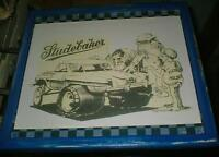 Studebaker comic Sketch - mounted,ready to display
