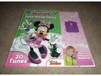Hardback children's/toddler/kids/girls/boys Disney Minnie Mouse sing along story book