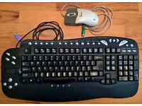 * * * Microsoft gaming Keyboard in black and Optical Mouse in grey - Bundle offer * * *