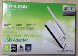 TP Link 150 MBP high gain wireless USB adapter