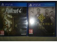 2 PS4 Games. Fallout 4 And The Order 1886