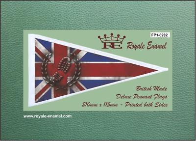 Royale Antenna Pennant Flag SKINHEAD MOD TARGET FP1.0045