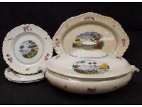 5 Piece Very Rare Antique Wedgwood Dinner Set (Circa 1894-96) Made in England