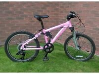 CARRERA SOL 20IN PINK FULL SUSPENSION BICYCLE