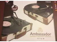 Ambassador portable streaming turntable