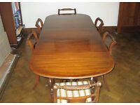 GT Rackstraw solid wood mahogany dining table, chairs and beautiful sideboard - £180
